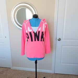 PINK Victoria Secret Hoodie Size S Neon Pink